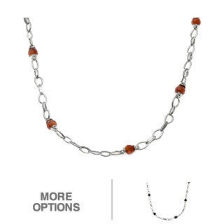 MARC Sterling Silver Gemstone & Marcasite Beads Necklace