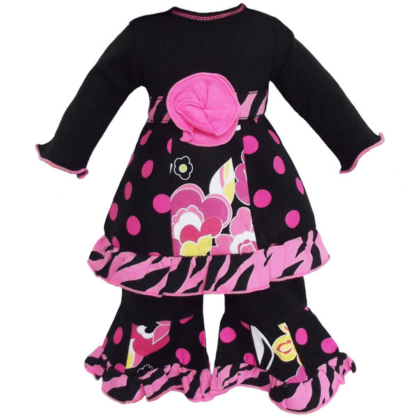 AnnLoren Floral Dots & Zebra Outfit fits American Girl Dolls