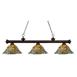 Eden 3-light Bronze Billiard Pendant