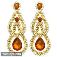 Kate Marie Silvertone or Goldtone Colored Rhinestone Earrings