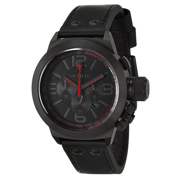 TW Steel Men's 'Canteen' Red/ Black Stainless Steel Chronograph Watch