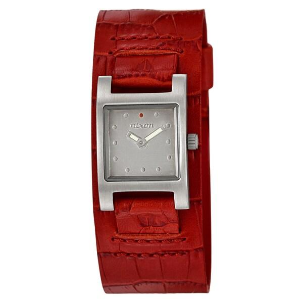 Nixon Women's 'The Lizzie' Stainless Steel Red Cuff Watch