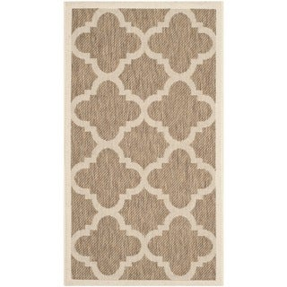 Safavieh Indoor/ Outdoor Courtyard Brown Rug (2' x 3'7)