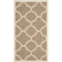 Safavieh Courtyard Quatrefoil Brown Indoor/ Outdoor Rug - 2' x 3'7