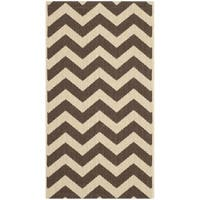"Safavieh Courtyard Chevron Dark Brown Indoor/ Outdoor Rug - 2'7"" x 5'"
