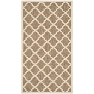 """Safavieh Courtyard Moroccan Trellis Brown/ Bone Indoor/ Outdoor Rug (2' x 3'7"""""""