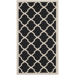 Safavieh Contemporary Indoor/ Outdoor Courtyard Black/ Beige Rug (2' x 3'7)