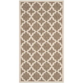 Safavieh Indoor/ Outdoor Courtyard Trellis-pattern Brown/ Bone Rug (2' x 3'7''