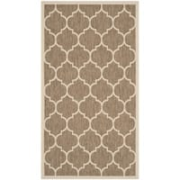 Safavieh Courtyard Moroccan Pattern Brown/ Bone Indoor/ Outdoor Rug - 2' x 3'7'