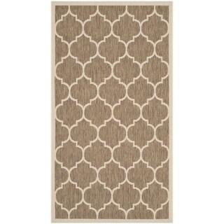 Safavieh Courtyard Moroccan Pattern Brown/ Bone Indoor/ Outdoor Rug (2'7 x 5')