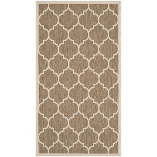 Safavieh Courtyard Moroccan Pattern Brown/ Bone Indoor/ Outdoor Rug - 2'7 x 5'
