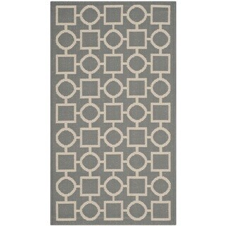 Safavieh Indoor/ Outdoor Courtyard Grey/ Beige Rug (2' x 3'7)