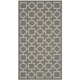Safavieh Indoor/ Outdoor Courtyard Grey/ Beige Rug (2'7 x 5')