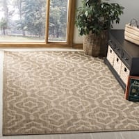 Safavieh Indoor/ Outdoor Courtyard Brown/ Bone Accent Rug - 2' x 3'7'