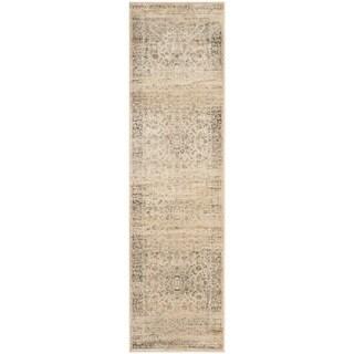 Safavieh Vintage Oriental Warm Beige Distressed Silky Viscose Rug - 2'2 X 8'