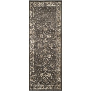 Safavieh Vintage Oriental Soft Anthracite Distressed Silky Viscose Runner (2'2 x 6')