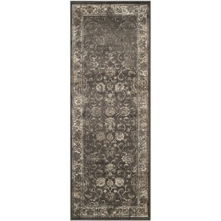 Safavieh Antiqued Vintage Soft Anthracite Viscose Runner (2'2 x 6')
