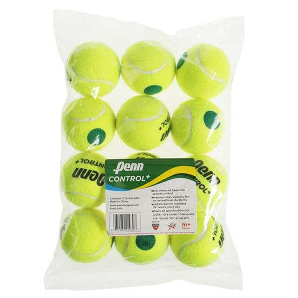 Penn Control Plus Green Dot Tennis Balls (Pack of 12)