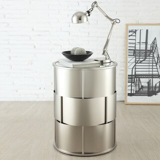 Hayes Mirror Top Metal Accent Table by iNSPIRE Q Bold