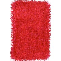 Coral Red Rug - 1'4 x 2'3