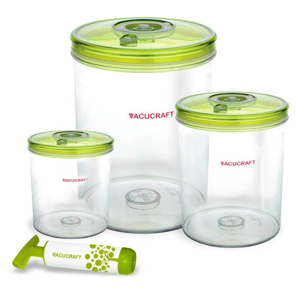 Vacucraft 4-piece Vacuum Seal Food Storage Set