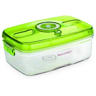 Vacucraft 1-liter Rectangular Vacuum Seal Food Container