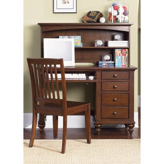 shop liberty 39 abbot ridge 39 cinnamon student desk hutch and chair free shipping today. Black Bedroom Furniture Sets. Home Design Ideas