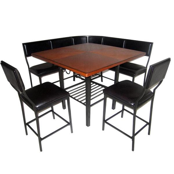 6-piece Carson Corner Nook Dining Set