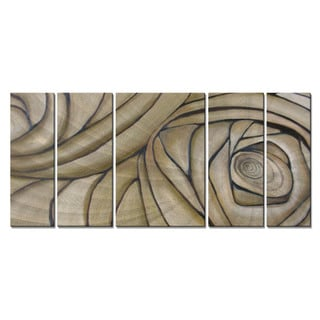 Janice Trane Jones 'Cerebral Spiral' Metal Wall Sculpture