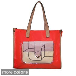 Donna Bella Designs 'Maisie' Colorblocked Tote and Removable Clutch