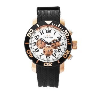 TW Steel Men's White Chronograph Dial Watch