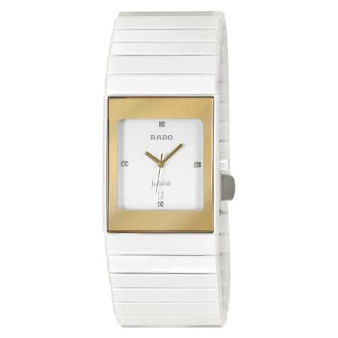 Rado Women's R21984702 'Ceramica' Diamond White Ceramic Watch