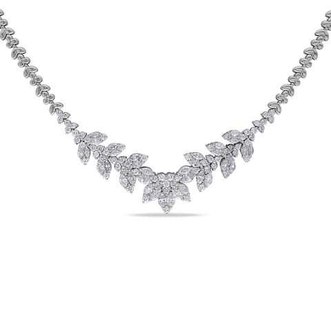 Miadora Signature Collection 14k White Gold 5 2/5ct TDW Diamond Necklace
