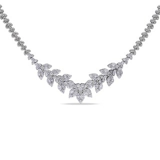 Miadora Signature Collection 14k White Gold 5 2/5ct TDW Diamond Necklace