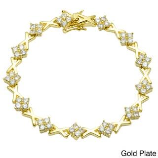 Simon Frank Goldtone Cubic Zirconia Tennis Bracelet (2 options available)