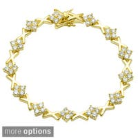 Simon Frank Goldtone Cubic Zirconia Tennis Bracelet