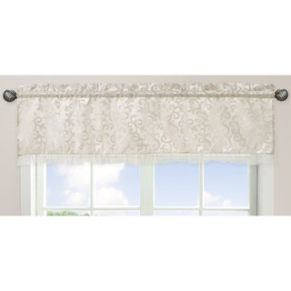 Sweet Jojo Designs Ivory and Champagne 54-inch x 15-inch Window Treatment Curtain Valance for Victoria Colle