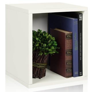Eco Stackable Storage Cube Plus and Cubby Organizer (made from sustainable non-toxic zBoard paperboard)