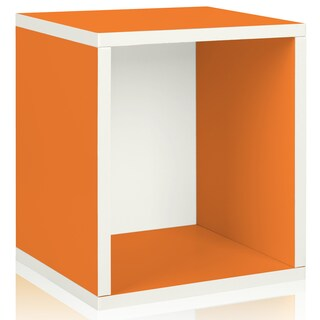 Parker Eco Stackable Storage Cube Cubby Organizer by Way Basics LIFETIME GUARANTEE (Option: ORANGE)