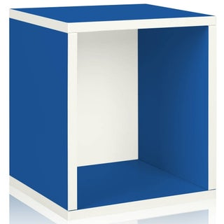 Parker Eco Stackable Storage Cube Cubby Organizer by Way Basics LIFETIME GUARANTEE - N/A (Option: Blue)