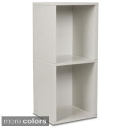 Eco 2 Shelf Double Cube Plus Narrow Bookcase and Storage Shelf (made from sustainable non-toxic zBoard paperboard)
