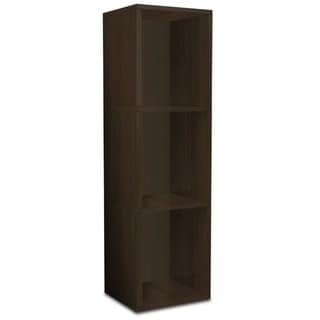 Eco 3 Shelf Triple Cube Plus Narrow Bookcase and Storage Shelf (made from sustainable non-toxic zBoard paperboard)