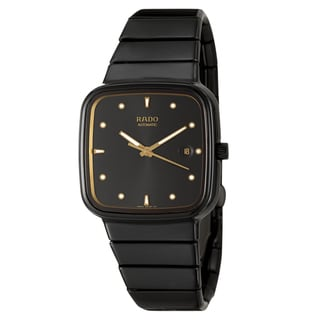Rado Men's 'R5.5' Black Ceramic Swiss Automatic Watch