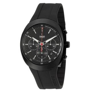 Rado Men's 'D-Star' Black Ceramic Swiss Automatic Watch