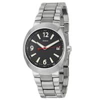 Rado Men's 'D-Star' Ceramos Black-dial Swiss Quartz Watch with Date Display