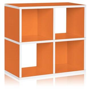 Clifton Eco 4-Cubby Bookcase Storage Shelf by Way Basics LIFETIME GUARANTEE (Option: ORANGE)
