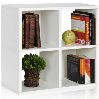 Clifton Eco Friendly 4-Cubby Bookcase Storage Shelf LIFETIME WARRANTY (made from sustainable non-toxic zBoard paperboard)