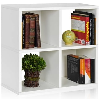 Eco 4 Cubby Bookcase, Stackable Organizer and Storage Shelf (made from sustainable non-toxic zBoard paperboard)