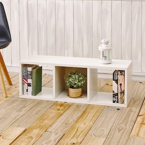 Handmade Colton 3-Cubby Shelf Organizer Stackable Storage Bench (Taiwan)