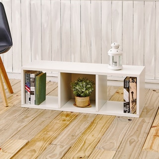 Eco 3 Cubby Storage Bench and Stackable Organizer (made from sustainable non-toxic zBoard paperboard)